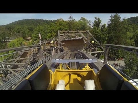 Knoebels Flying Turns Update Test Run Wooden Bobsled Roller Coaster Amusement Resort GoPro Video