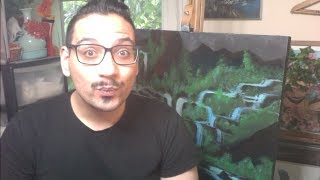 How To Paint A Waterfall Landscape