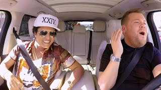 Bruno Mars Brings His '24K Magic' Swag to 'Carpool Karaoke' With James Corden!