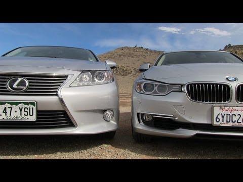 Lexus ES 350 vs BMW 335i 0-60 MPH Mashup Drive & Review