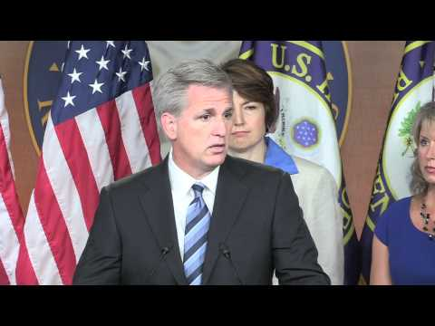House Majority Whip Kevin McCarthy at the Weekly House Republican Leadership Press Conference