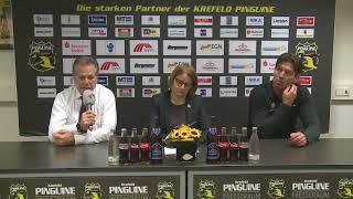 Pressekonferenz Spiel Krefeld Pinguine - Berlin 15.10.2017