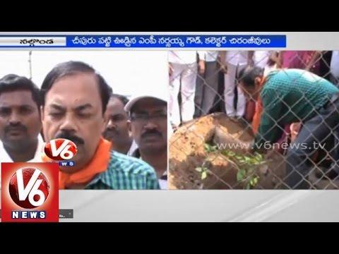 TRS MP Boora Narsaiah Goud started 'Swachh Bharat' at Yadagirigutta - Nalgonda