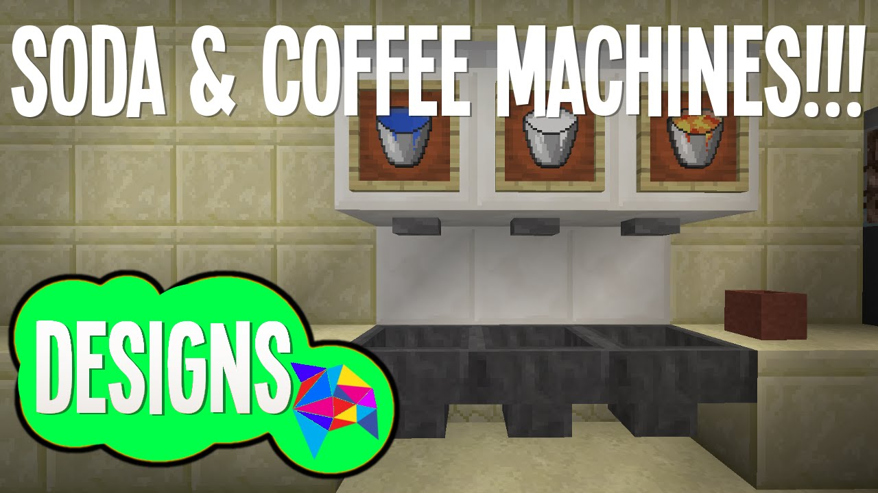 how to make a working coffee machine in minecraft