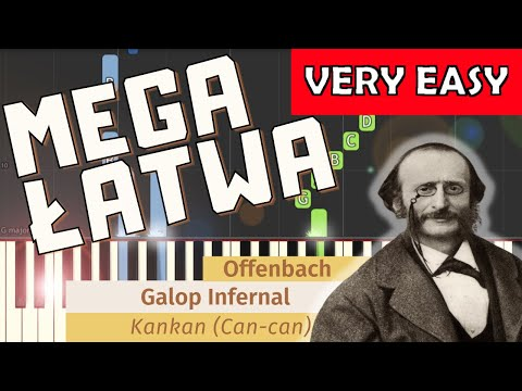 Galop/Kankan (J. Offenbach) - MEGA ŁATWA Synthesia (VERY EASY)