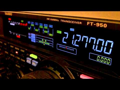 Ham Radio DX QSO YV8AD Yaesu FT-950