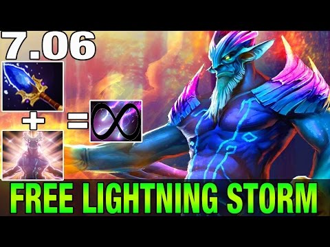 Patch 7.06 - Leshrac Aghanim's Reworked - OP FREE LIGHTNING - Dota 2