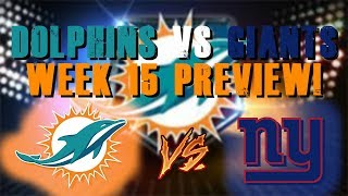 Miami Dolphins Vs New York Giants Preview! With The Entertainah Talkin Sports!