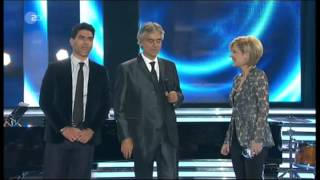 "Andrea Bocelli & his son Amos (on piano) - ""Love Me Tender"" - live on German TV, April 13, 2013"
