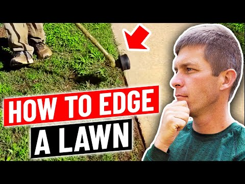 How to edge a lawn with a string trimmer...aka weed eater. weed whacker
