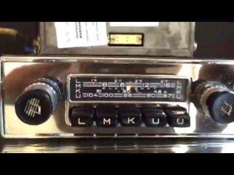 Chromelondon.com BLAUPUNKT FRANKFURT WITH AMP X SERIES FM VINTAGE CLASSIC CHROME FM RADIO WITH MP3