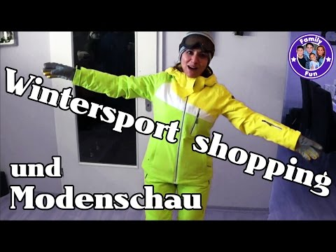 WINTERSPORT SHOPPING MODENSCHAU - wir gehen Rodeln - FAMILY FUN