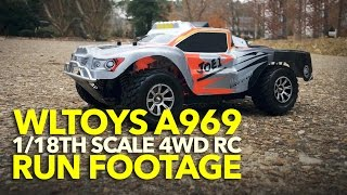 WLTOYS A969 RUN FOOTAGE: 1/18th Scale 4WD RC Shortcourse Truck