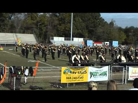 East Davidson High School Marching Band Homecoming 2013
