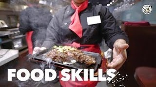This Japanese Steakhouse Serves Up Sizzling Meat While You Stand | Food Skills