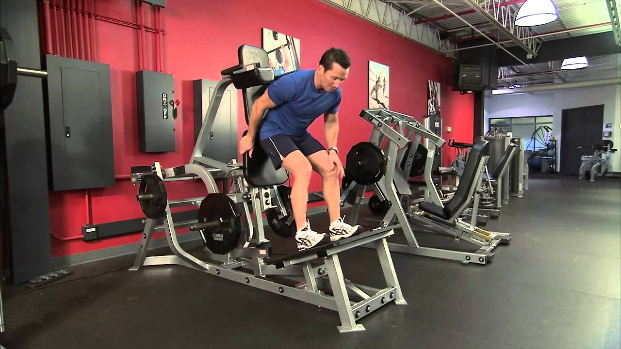Hammer Strength Plate Loaded V Squat Instructions Youtube