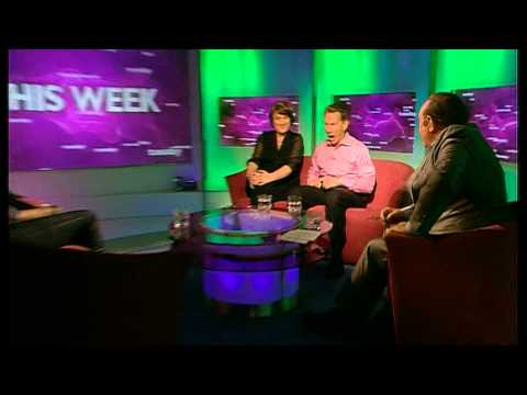 BBC This Week with Andrew Neil, 8th December 2011. Michael Portillo getting excited to Born Slippy