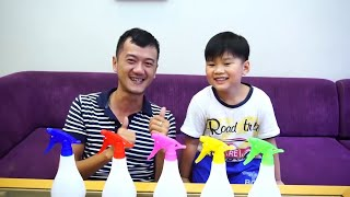 Learn Colors with Water Sprays and Pretend Fire for Funny Baby, Children, Toddlers and Kids |  KTRV