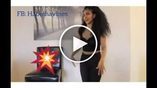 cute habesha girl dancing