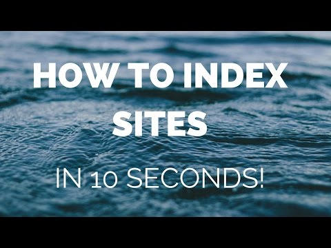 [QUICK TRAINING]: How To Index Sites/BackLinks In Seconds! How To Index My Website in Google