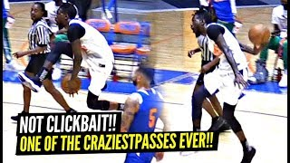 The BEST PASS of 2019!? (NOT CLICKBAIT) Between The Legs BEHIND THE BACK!? Derrick Jones Jr Is CRAZY