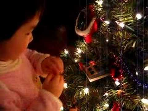 Toddler Demo Talking Christmas Ornaments (Star Trek & Santa)