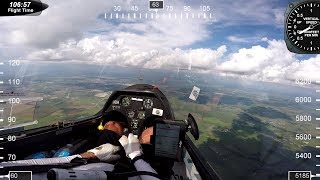 Flying on the edge of a rain storm fantastic lift convergent winds Roy Dawson video