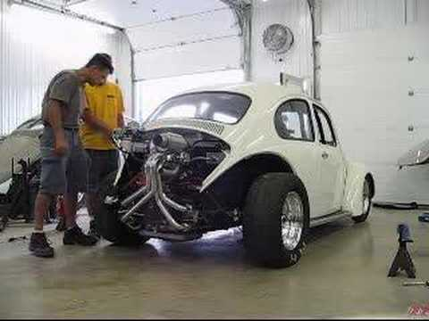 Volkswagen Beetle Ratings >> My 1968 turbo VW engine start Unlimited Street Bug - YouTube