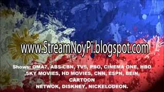 GMA7, ABS-CBN, TV5, HBO, DISNEY, ESPN, CARTOON NETWORK, CINEMA ONE, PBO Live Streaming and more!!!