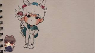 Speedpaint #15: Wonwoo Chibi (Watercolour)