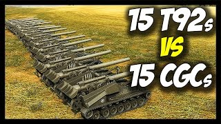 ► 15 T92s vs 15 CGCs - Ultimate Artillery Battle! - World of Tanks: Face Off #21