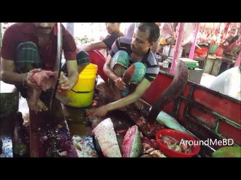 Skin Removing of African Catfish | Big Indian Major Carp Fish Slice In Amazing Fish Market thumbnail