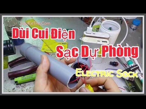 Chế Dùi Cui Điện kiêm Sạc Dự Phongf - Diy Electric Sock - Nguy Hiểm Mà Dễ Lamf | saorethe
