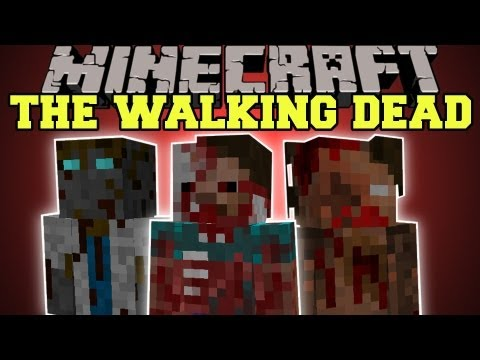 Minecraft : THE WALKING DEAD ZOMBIES GUNS STRUCTURES The Crafting Dead: Cure Mod Showcase