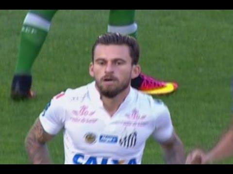 Gol Lucas Lima, Chapecoense 0 x 1 Santos – Série A 23/10/2016