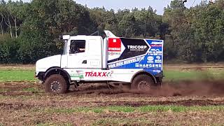 Testing Dakar Scania Rally truck part 1