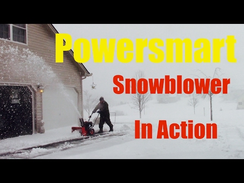 Powersmart Snowblower In Action Review