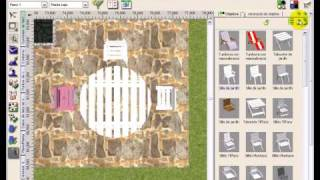 Diseño Jardines 3D 7.0 Tutorial video #4: Mobiliario Jardín