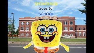 spongebob goes to school