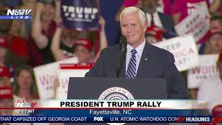 """HE'S THE REAL DEAL"": VP Pence speaks at Trump rally in Fayetteville, NC"