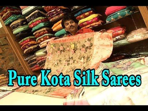 Pure Kota Silk Sarees / Jacquard Kota Silk / Printed Design