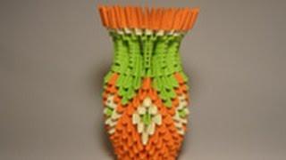 Видеоурок модульное оригами ваза