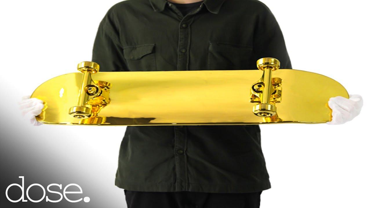 Golden Skateboard Deck The Golden Skateboard