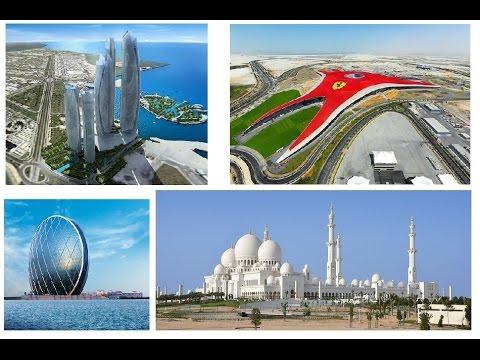 ABU DHABI - tour complete with large white mosque - أبوظبي - جولة كاملة مع مسجد أبيض كبير