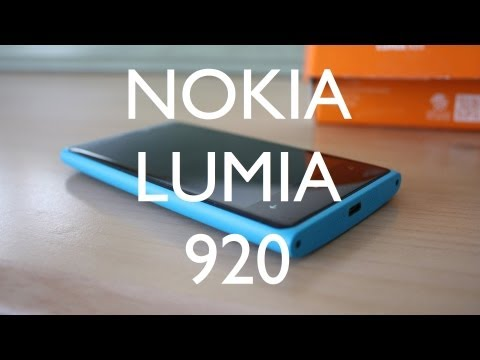 Nokia Lumia 920 Cyan Unboxing and First Review
