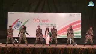Salam India Group Dance by DSVV Sanskriti Kalaa Group on 26 January 2015 film by awgp spark