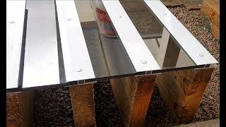 Como Instalar uma Cobertura de Vidro ou Policarbonato em Pergolado de Madeira com Perfil H 10 mm