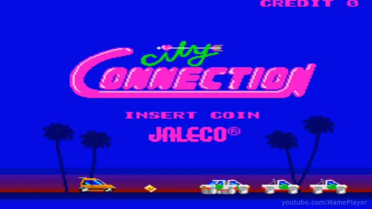 City Connection 1985 Jaleco Mame Retro Arcade Games