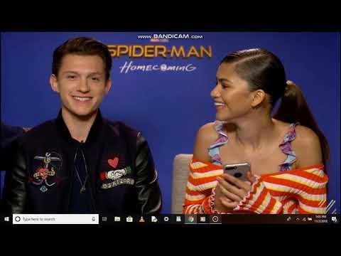 Full interview of spiderman homecoming cast Zendaya,Tom,Jacob,Laura thumbnail
