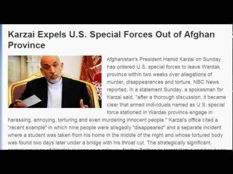 (Afghanistan) Karzai Expels U.S. Special Forces Out of Afghan Province